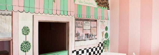 Lisa Hannemann's Ice Cream Parlor Mural